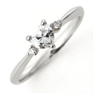 婚約指輪ダイヤモンドダイヤプラチナリングハート天然石サイドダイヤモンドエンゲージリング【_包装】