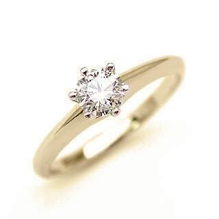 婚約指輪 ダイヤモンド リング 立爪 ダイヤ エンゲージリング ダイヤモンド ダイヤリング K18イエローゴールド SIクラス0.20ct 鑑定書付き【DEAL】