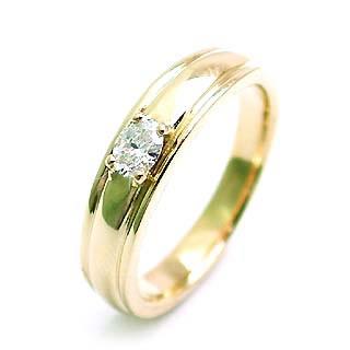 ( 4月誕生石 ) K18ダイヤモンドペアリング【楽ギフ_包装】