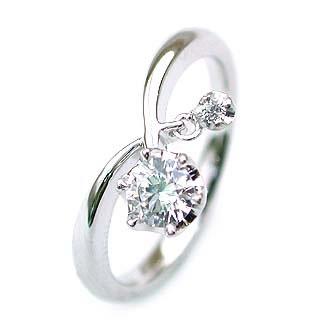 (Brand Jewelry fresco)  Pt ダイヤモンドリング(婚約指輪・エンゲージリング)【楽ギフ_包装】
