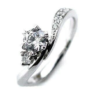 婚約指輪 エンゲージリング ダイヤモンド プラチナ ダイヤモンドリング(ラウンドブリリアント)【楽ギフ_包装】