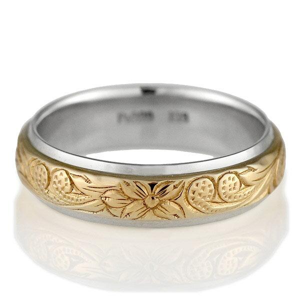 プラチナ リング ( Brand Jewelry KAPILINA ) MAULOA・プラチナ900・K18ピンクゴールドレディスペアリング【楽ギフ_包装】