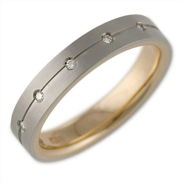 K18ホワイトゴールド・K18ピンクゴールド 結婚指輪・マリッジリング・ペアリング【楽ギフ_包装】