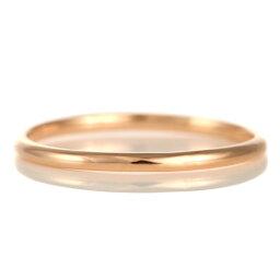結婚指輪 マリッジリング 18金 ピンクゴールド 甲丸 レディース【楽ギフ_包装】 末広 【今だけ代引手数料無料】