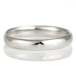 結婚指輪 マリッジリング プラチナ 甲丸 天然石 ダイヤモンド【楽ギフ_包装】 末広 【今だけ代引手数料無料】