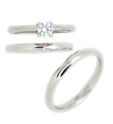 ( Brand Jewelry fresco ) プラチナ ダイヤモンドリング(婚約指輪・結婚指輪)エンゲージ マリッジ セット 3本【楽ギフ_包装】 【DEAL】 末広 【今だけ代引手数料無料】