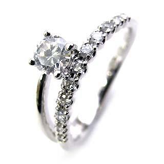( Brand Jewelry Angerosa ) Pt ダイヤモンドリング(婚約指輪・エンゲージリング)【楽ギフ_包装】【DEAL】