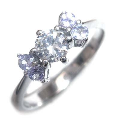 ( 婚約指輪 ) ダイヤモンド プラチナエンゲージリング( 12月誕生石 ) タンザナイト【楽ギフ_包装】
