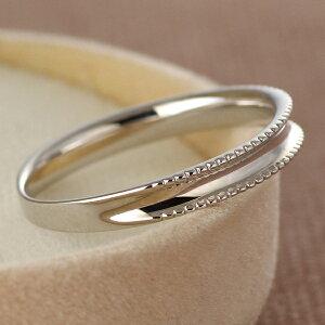 ペアリングマリッジリング結婚指輪K18ホワイトゴールド【SUEHIRO】【_包装】