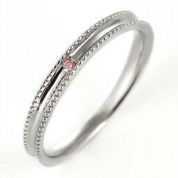 ピンクダイヤモンド ペアリング 結婚指輪 マリッジリング K18ホワイトゴールド【楽ギフ_包装】 末広 【今だけ代引手数料無料】