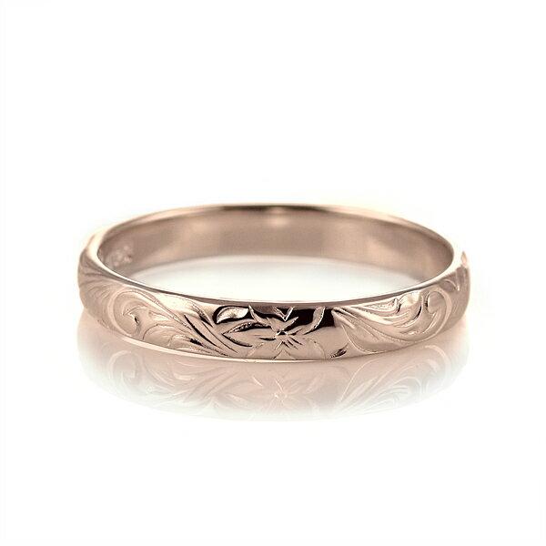 ハワイアンジュエリー 結婚指輪 鑑定書付き ハワイアン ダイヤモンド リング 一粒 大粒 指輪 SI ピンクゴールドK18 ハワイアンリング 18金 K18PG