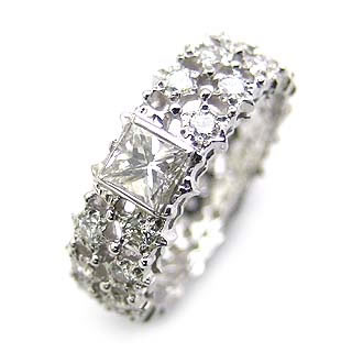 ( Brand Jewelry ASPIRARE ) Pt ダイヤモンドリング【楽ギフ_包装】 【DEAL】 末広 楽天スーパーSALE