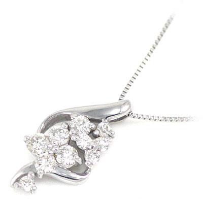 スイート エタニティ ダイヤモンド 10 個 K18ホワイトゴールド ダイヤモンドペンダントネックレス 結婚 10周年記念【楽ギフ_包装】【DEAL】