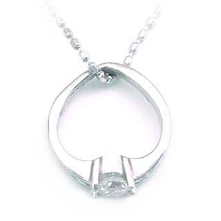 ダイヤモンド ダイヤ ( 4月誕生石 ) K18WG ダイヤモンドベビーリング・ネックレス【楽ギフ_包装】