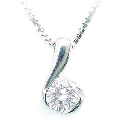 胸元を飾る華やかなダイヤモンドペンダント今ならラッピング無料◆Pt ダイヤモンドプチネックレ...