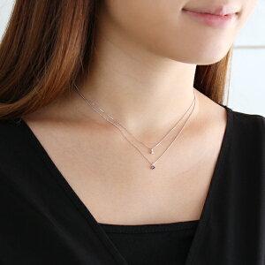 ダイヤモンドネックレス4月誕生石ネックレスホワイトゴールド【SUEHIRO】