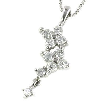 スイート エタニティ ダイヤモンド 10 個 プラチナダイヤモンドペンダントネックレス 結婚 10周年記念【楽ギフ_包装】 【DEAL】