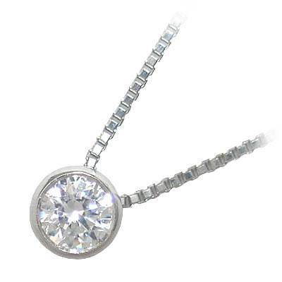 ネックレス 一粒 ダイヤモンド ネックレス K10ホワイトゴールド ダイヤモンドネックレス ダイヤモンド ダイヤ 1.0カラット【楽ギフ_包装】