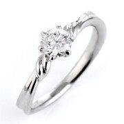 レビュー プラチナ エンゲージリング プロポーズ ダイヤモンド シンプル