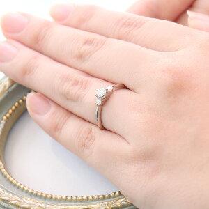 【刻印無料】婚約指輪0.2カラットサイドダイヤ付きエンゲージリングダイヤモンドプラチナリングソリティア一粒【楽ギフ_包装】