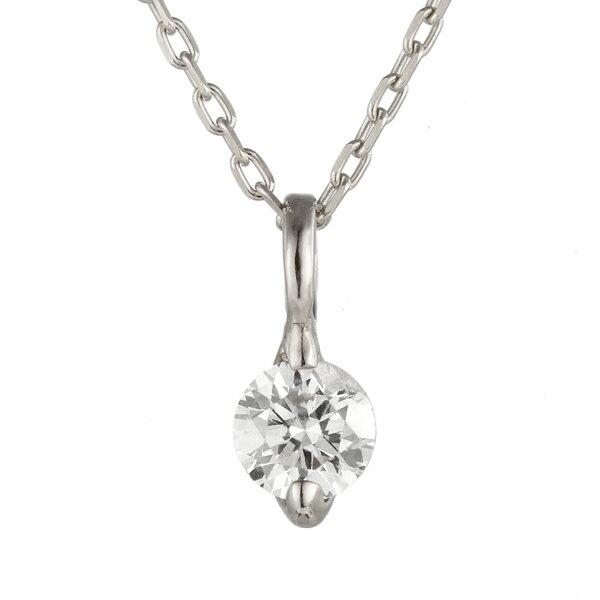 ネックレス ホワイトゴールド ダイヤモンド 一粒 K18 WG  ネックレス【楽ギフ_包装】 【DEAL】