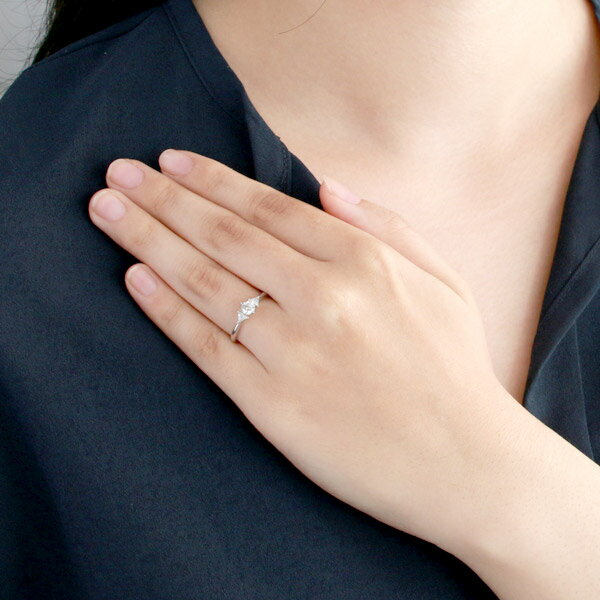 婚約指輪 ダイヤモンド プラチナ リング 天然石 エンゲージリング 鑑別書【楽ギフ_包装】