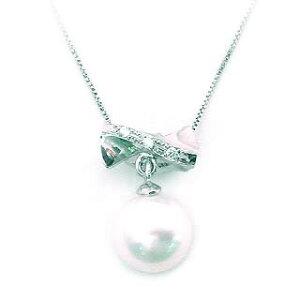 【Jewelry SUEHIRO】予算3万以内で選ぶ 6月誕生石パール真珠ネックレス・ペンダント K18WGパールペンダント