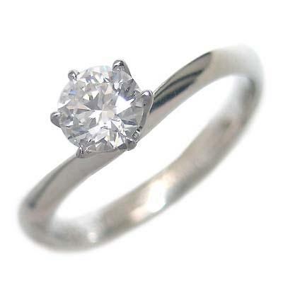 鑑定書付き エンゲージリング ダイヤモンド プラチナ リング 婚約指輪【楽ギフ_包装】【DEAL】