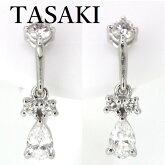 田崎真珠TASAKIダイヤモンド計0.82ctイヤリングPt900【中古】