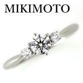 ミキモトダイヤモンド0.30ctD-VVS2-3EXリングPt950【中古】