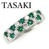 田崎真珠TASAKIエメラルドダイヤモンド0.47ctリング【中古】