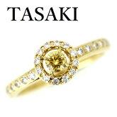 TASAKI田崎ダイヤモンド0.18ctFANCYORANGYYELLOWVS1リングK18【中古】