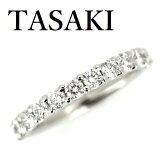 TASAKIダイヤモンド0.58ctハーフエタニティーリングPt950【中古】