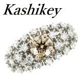 カシケイブラウンダイヤモンド1.015ctダイヤモンド1.00ctPt900/K1813号【中古】