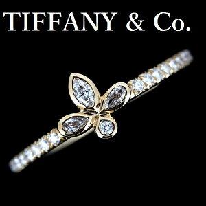 Tiffany Fleur De Lis钻石戒指K18PG [二手]