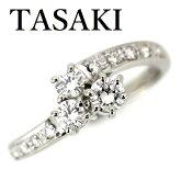 田崎真珠TASAKIダイヤモンド0.43ctリングPt900【中古】