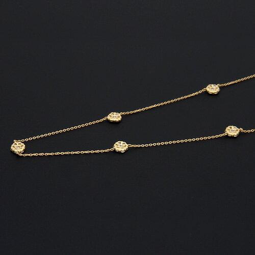 18金 ダイヤモンド1.0ct フラワーロングネックレス ペンダント 1.0ctカラット K18YG イエローゴールド K18PG ピンクゴールド ダイアモンド レディース プレゼント ギフト 記念日 誕生日