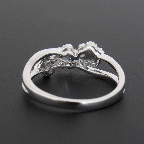 18金 ダイヤモンド0.25ct フラワーダイヤリング K18WG ホワイトゴールド 0.25カラット 指輪 ダイアモンド レディース プレゼント ギフト 記念日 誕生日