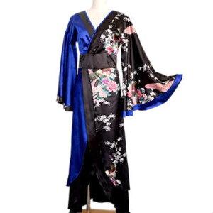 Vestido Yukata Kimono Adulto Estilo Japonés Oiran Cosplay Traje Yosakoi Vestido Yukata Vestido Joya Kimono Patrón Pavo Real Vestido Kimono