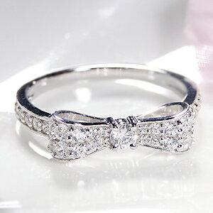 ファッション・ジュエリー・アクセサリー・レディース・指輪・リング・ダイヤ・ダイヤモンド・ダイア・ダイアモンド・ホワイトゴールド・ピンクゴールド・イエローゴールド・ゴールド・りぼん・リボン・リボンモチーフ・・代引手数料無料・送料無料・品質保証書:Jeweluce
