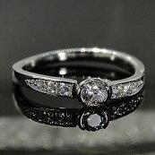 pt950ウェーブラインダイヤモンドリング