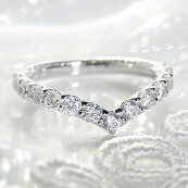 pt900【1.0ct】Vラインダイヤモンドリング