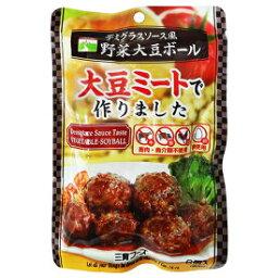 【送料一律200円】デミグラスソース風野菜大豆ボール 100g×5袋 三育フーズ