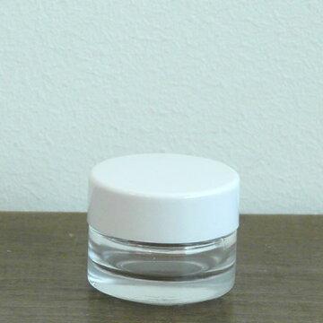 クリームガラス容器10gクリア・CAP白