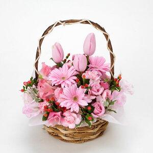ピンクが好きな方へおススメ♪春のお花を使ったピンク系のかわいらしいアレンジです。