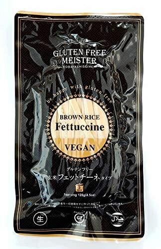 (12袋セット)小林生麺 グルテンフリーヌードル フィットチーネ(ブラウンライス、玄米) 128g×12袋