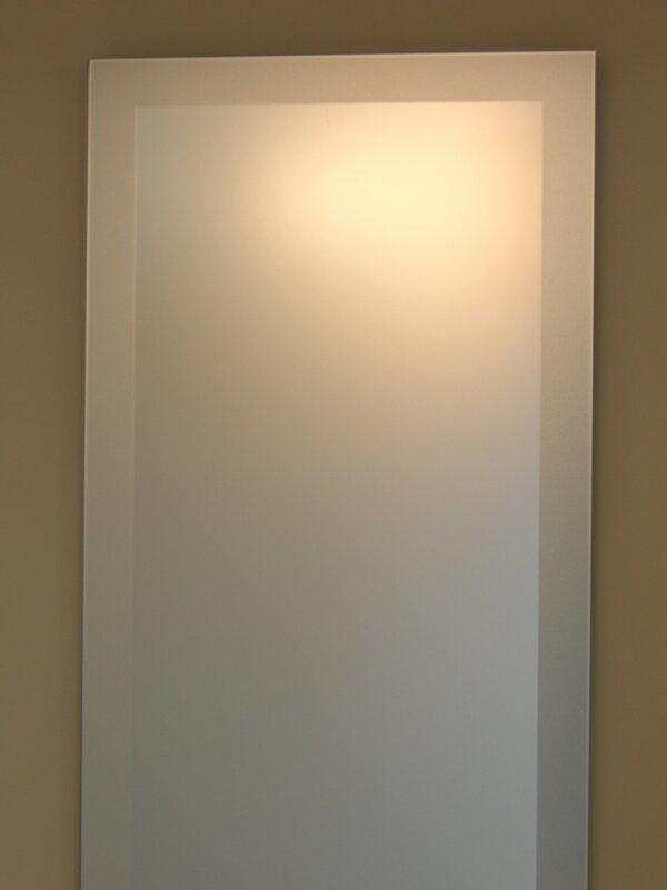 姿見 姿見鏡【JHAデザインミラー】 シンプル1  【飛散防止・壁掛け用】W400×H1500(フレームレスミラー ノンフレーム 玄関 全身鏡 全身ミラー おしゃれ 店舗):鏡 壁掛け鏡 インテリアミラー工房