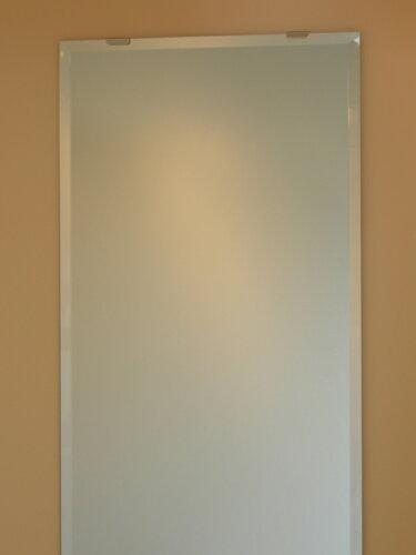 姿見 姿見鏡《デラックス》 柄なし W400×H1500(面取り:15ミリ幅)【ビ...
