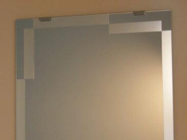 【送料無料】鏡 ミラー 洗面鏡 化粧鏡【JHAデザインミラー】 モダン1 W350×H500【ビス用】(フレームレスミラー ノンフレーム 化粧鏡 玄関 洗面 トイレ 寝室 おしゃれ 店舗)