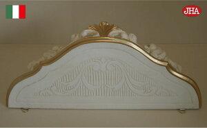 【イタリア製】【JHAアンティーク風コンソール】エレガンス(アイボリー&ゴールド)W380×D200×H155軽量レジン製飾り棚ウォールシェルフ